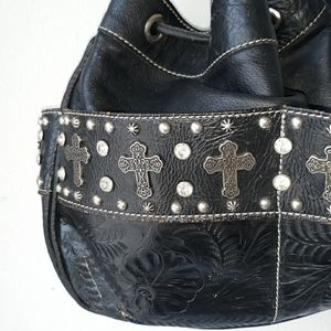 American West leather bag